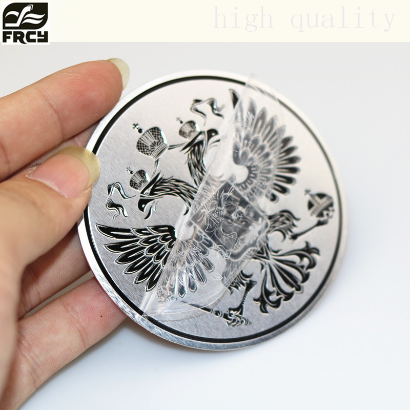 3D car stickers Aluminum Coat of arms of Russia car body metal sticker Russian Eagle Decoration for lada kia Renault vw toyota рашгарды fight nights рашгард russian eagle