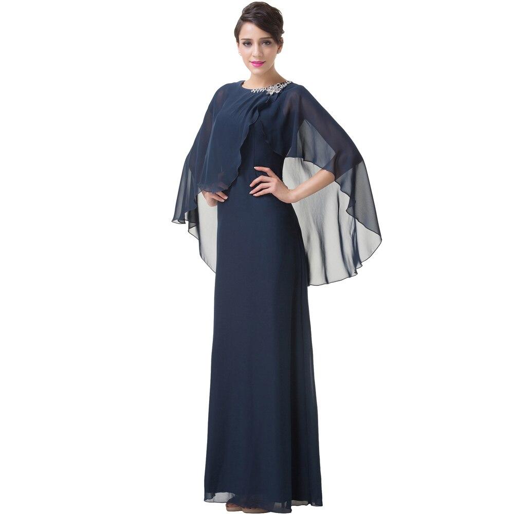 Chiffon cape style dresses