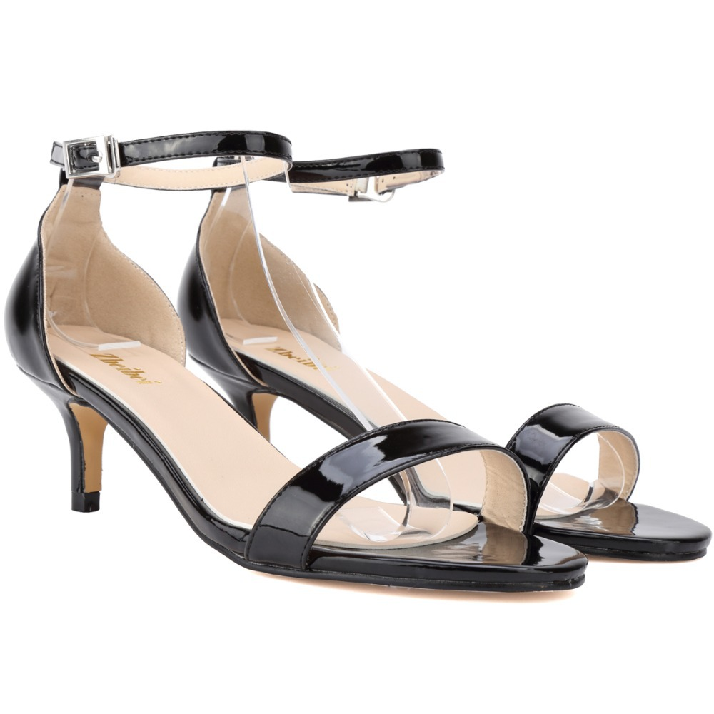 Multi Colour Patent Hot Summer Sexy Party Low High Heels Sandal Women Pumps Shoes Wedding High ...