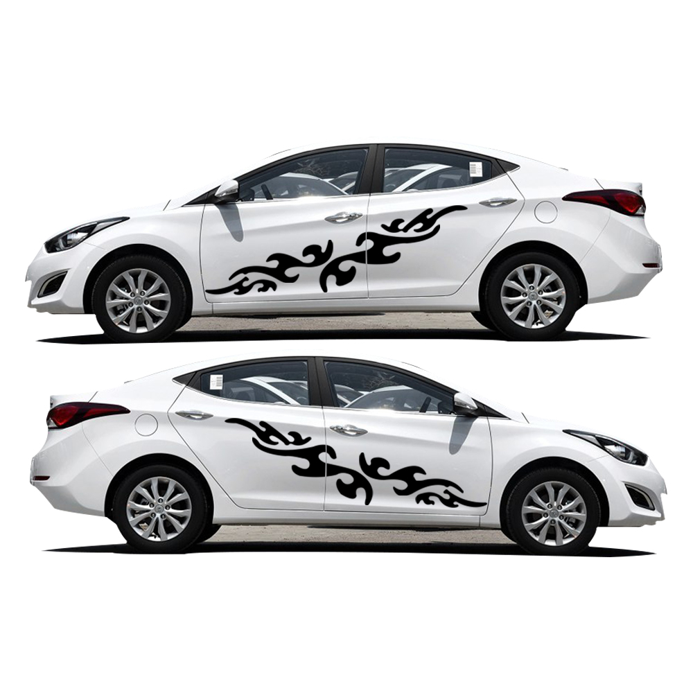 Hyundai Elantra Sticker On Car