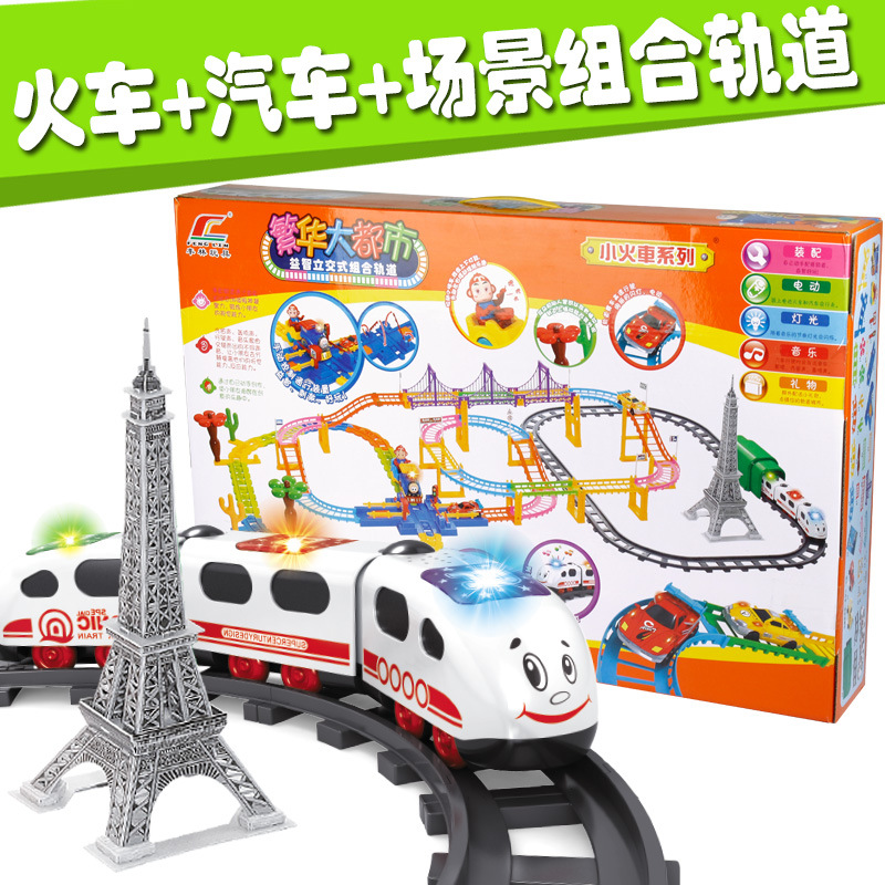 On Stock New Hot Thomas electric rail cars small train boys and girls birthday present educational toys Kids Toys Best Gifts