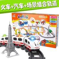 W Magazynie New Hot elektryczne wagony Thomas kolejka chłopcy i dziewczyny prezent urodzinowy zabawki edukacyjne Zabawki Dla Dzieci Najlepsze prezenty