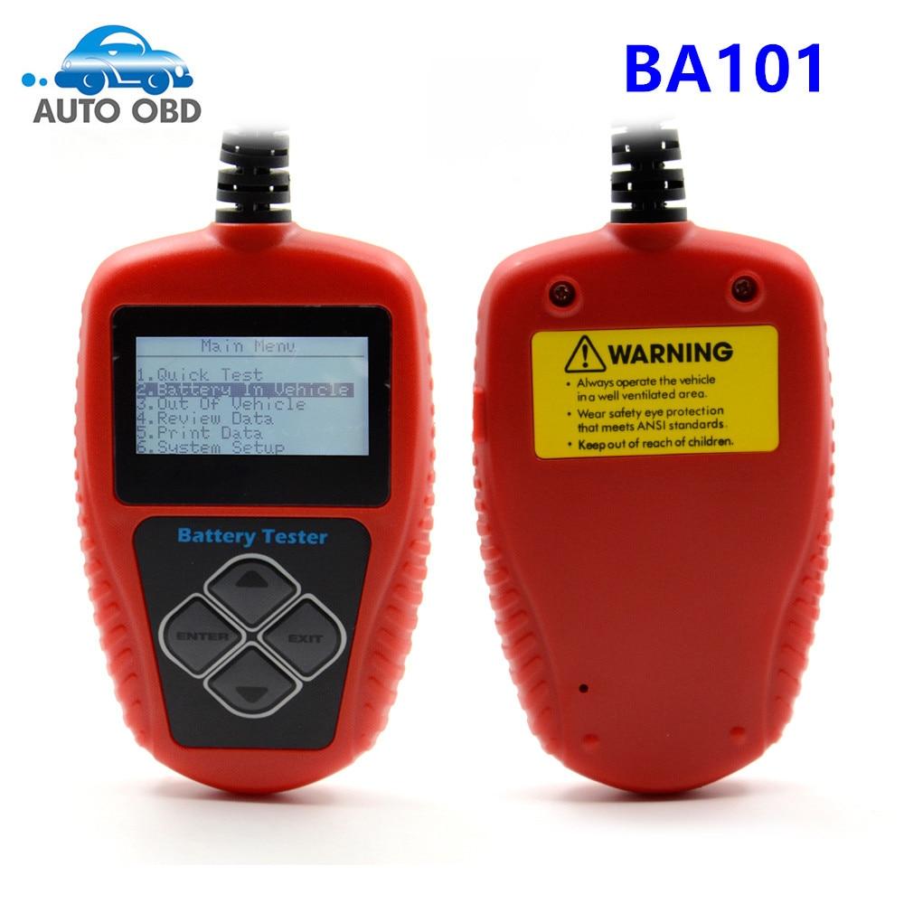 imágenes para Alta calidad quicklynks ba101 analizador de la batería probador de la batería del coche 12 v del vehículo automotor ba101 100-2000cca 220ah escáner herramientas
