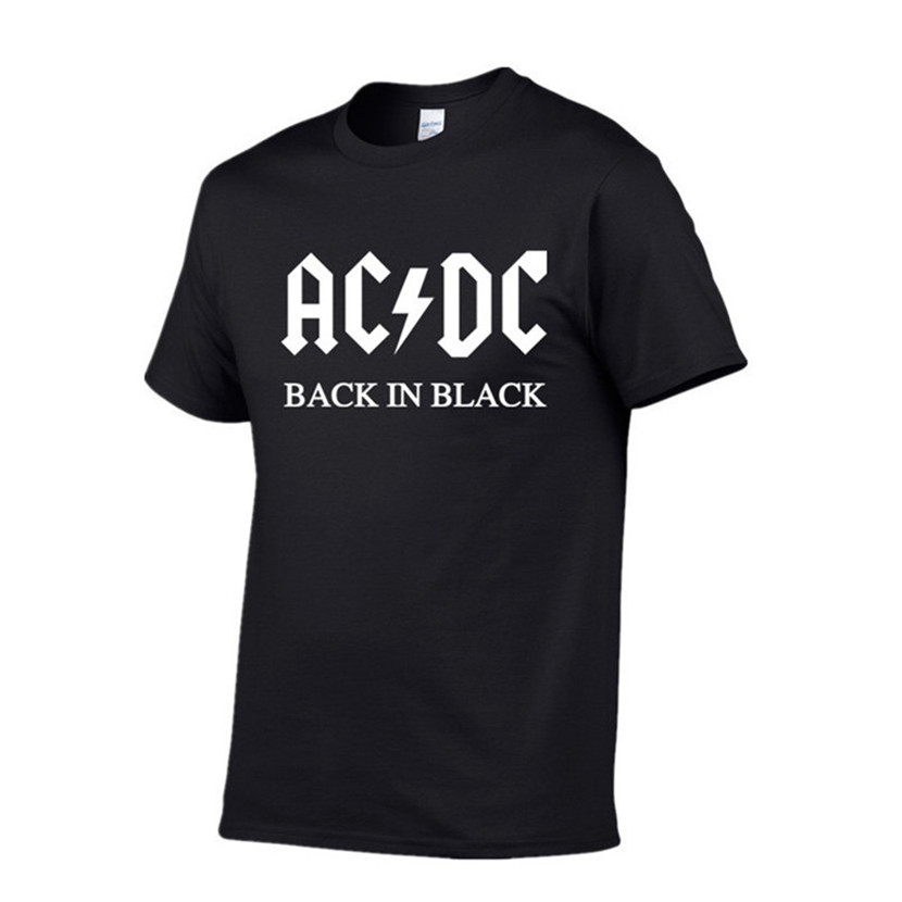 2019 New Camisetas AC/DC Band Rock T Shirt Mens Acdc Graphic T-shirts Print Casual Tshirt O Neck Hip Hop Short Sleeve Cotton Top