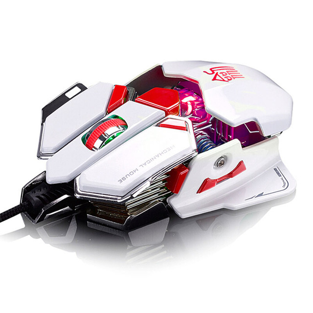 Professional Mouse Series 4000DPI 10D Buttons LED Optical Wired Gaming Mouse For Pro PC Gamer 2907 Suppion
