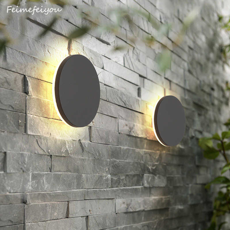 Wall Sconce Modern Porch Light Garden Wall Lamp Indoor Outdoor 10 W LED Wall Light Fixture for Corridor Garage Cafe hotel light