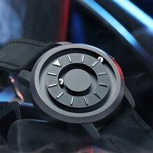 Часы с магнитным шаром, уникальный дизайн, кварцевые, инновационные, Роскошные, водонепроницаемые, мужские наручные часы,, EOEO