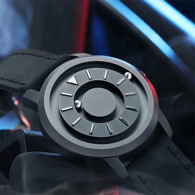 Magnetic ball Watch Unique Designer Quartz Innovate Concepts Luxury Waterproof Man Wrist Watch Best selling 2019 EOEO