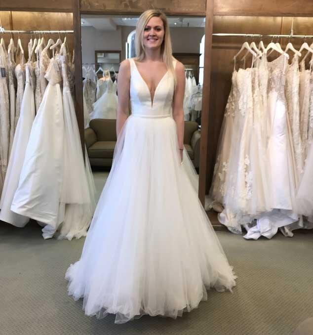 2019 A Line Sexy V Neck Beach Boho Wedding Dress Satin Top Tulle Skirt Backless Wedding Gown Boho Bride Dress Robe De Soiree