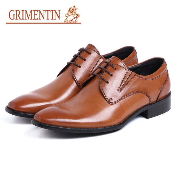 270b3929d8e GRIMENTIN oxford schoenen mannen wees teen lederen luxe jurk zakelijke  schoenen 2019 merk schoenen