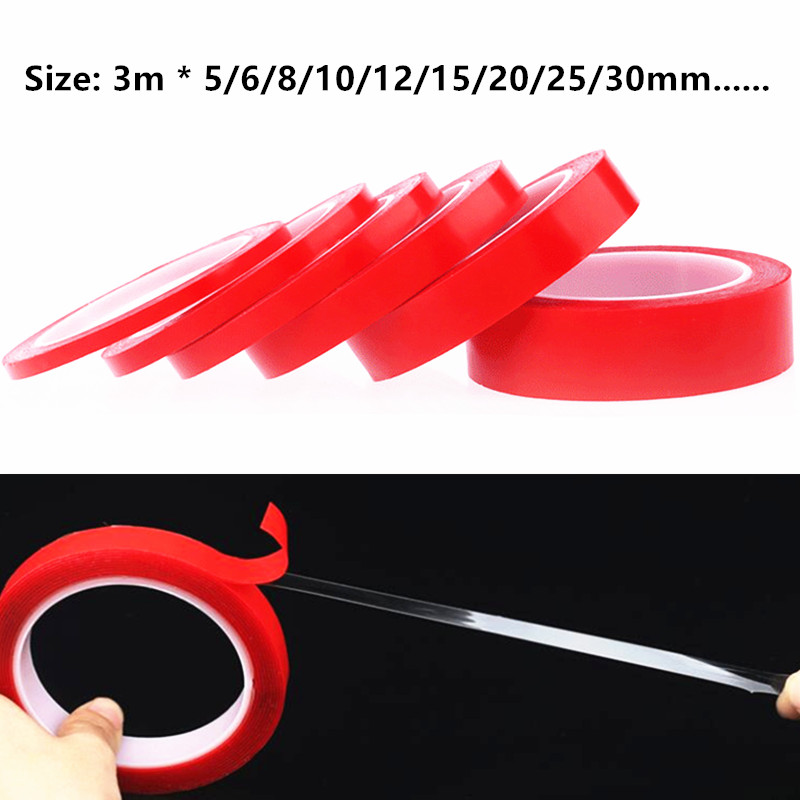 Transparent Silicone Double Sided Tape Sticker For Car High Strength High Strength No Traces Adhesive Sticker Living Goods
