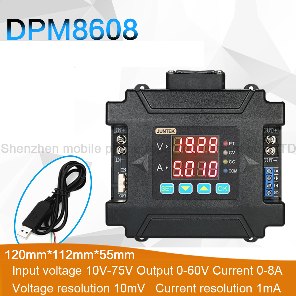 DPM8608 Module Converter Maintenance Power Supply Programmable Adjustable Digital Constant Current DC Voltage Power SupplyDPM8608 Module Converter Maintenance Power Supply Programmable Adjustable Digital Constant Current DC Voltage Power Supply