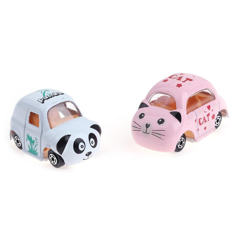 6pcs Baby Kids Toy Cars Mixed Patterns Simulation Cartoon Animals Alloy Cars Vehicle Model Toy Mini Car Toys for Kids Xmas Gift