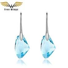 Fashion Pendientes Austrian Brincos Crystal Dangle Earrings Women Jewelry