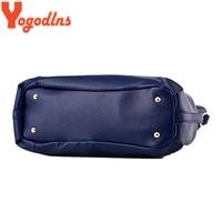 Yogodlns Designer Women Handbag Female PU Leather Bags Handbags Ladies Portable Shoulder Bag Office Ladies Hobos Bag Totes