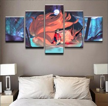 Home Decorative Print Canvas Oil Painting Wall Art 5 Pieces Anime NARUTO For Living Room HD
