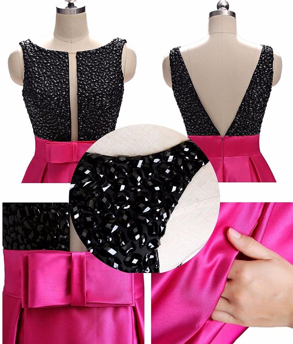 Νέα Άφιξη Μαύρο και Φούξια Φορέματα - Ειδικές φορέματα περίπτωσης - Φωτογραφία 6