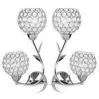 AC85 285V E27 Creative Crystal LED Wall Light Silver Decorative Lighting Sconce Modern Wall Lamp