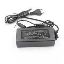 Carregador de bateria de lítio 42v2a, carregador de bateria de lítio íon-lítio para bicicleta elétrica série 10 36v saída 42 v 2a ac 110 -240v