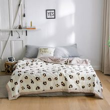 2019 Brown INS Leopard Print Stitching Comforter Summer Quilt Cotton Fabric Quilting Blanket Twin Full Queen Size Bedspread(China)
