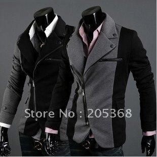 New Men's Suit,Leisure Suit,Men's Jackets,Brand Name Suit  Color:Black,Gray Size:M-XXL