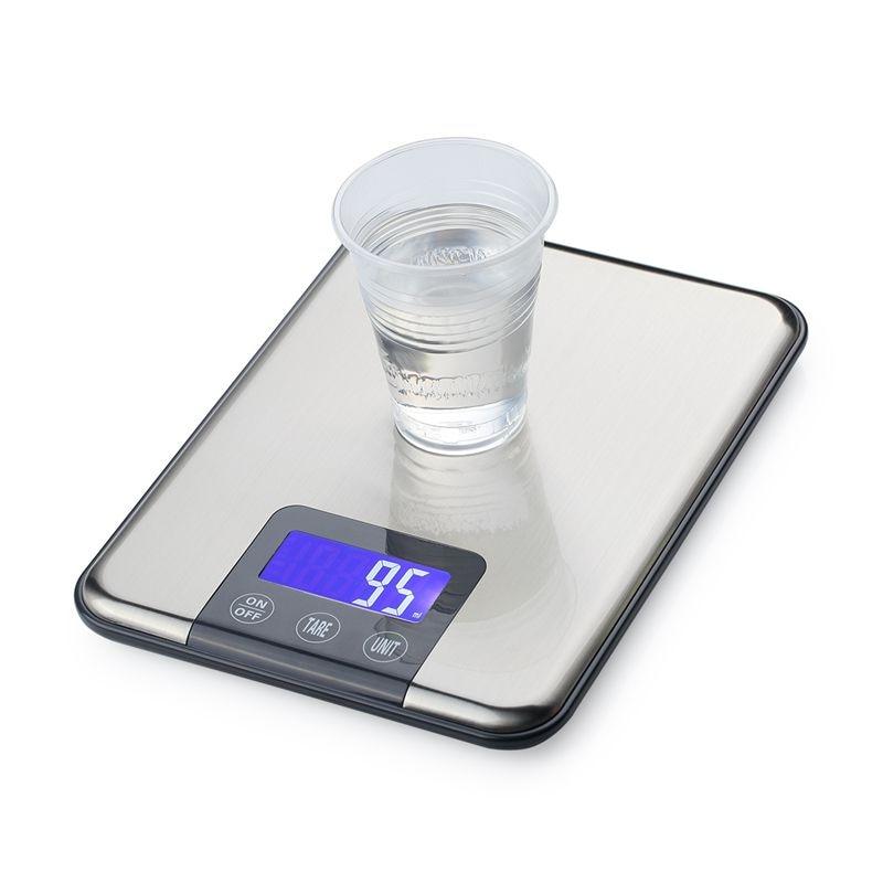 15 kg * 1g skaitmeninė virtuvės jutiklinė skalė 15 kg 1 g plonos - Matavimo prietaisai - Nuotrauka 6