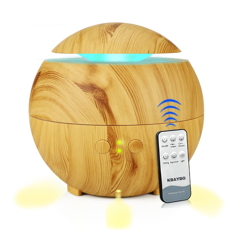 Remote Control Air Ultrasonic Humidifier Essential Oil Diffuser Atomizer Air Freshener Mist Maker Wood with LED Light For Home 420ml lavender air ultrasonic humidifier essential oil diffuser atomizer air freshener mist maker with led night light