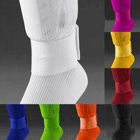 Ajustável 5 cores shin guard fixo bandagem fita caneleiras de futebol impedir cair fora esportes elásticos bandagem legwarmers de segurança -