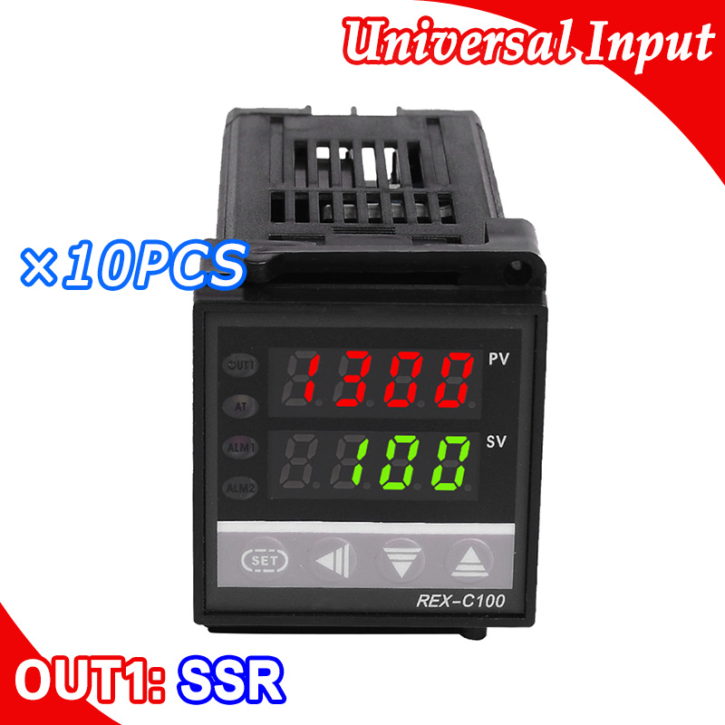10PCS Lot Digital PID Temperature Controller Thermocouple K Input sensor SSR Output 48 48 mm size