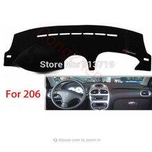 RHD Right Hand Drive Приборной Панели Автомобиля Избегайте Свет Pad Инструмент Крышка Платформы Стол Коврик Ковры Для PEUGEOT 206