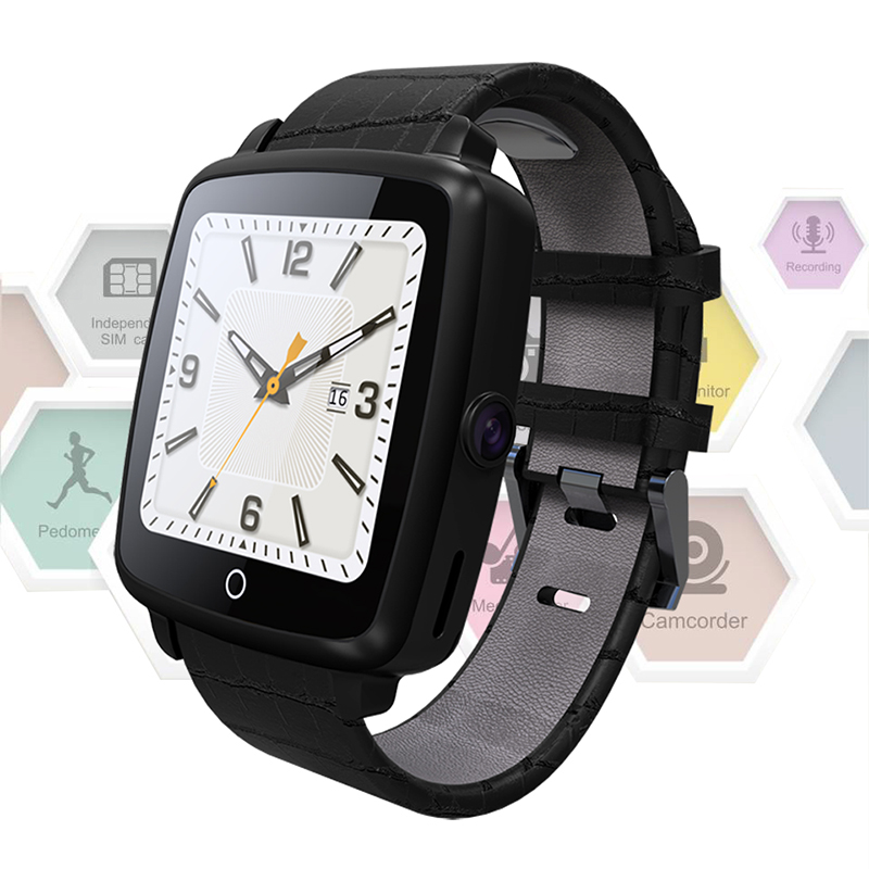 Galleria fotografica Smart Watch SW58 Bluetooth Horloge Smartwatch sport montre-Bracelet dispositifs portables Pour Apple iphone Android Téléphone Caméra