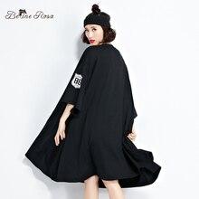 BelineRosa 2017 Plus Size Women Clothing European Fashion Batwing Sleeve Tunic T-Shirt Dresses Women Fit 5XL 6XL TYW0262