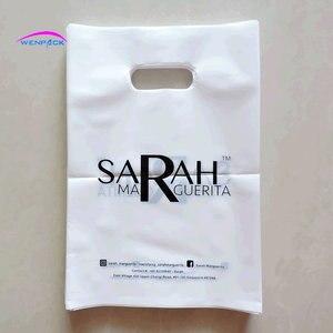 Image 4 - مخصص مطبوعة مقبض التسوق هدية حقيبة بلاستيكية لتعبئة القماش