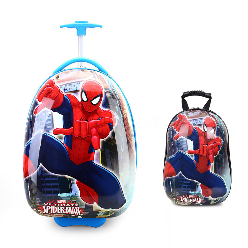 Cute BackPack For Children School Trouly Bag Kindergarten Students Travel School Bags With Wheels For Boys And Girls Cartoon Bag