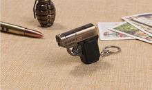 Пистолет светодиодный фонарик подарок небольшой мигающий мужской и женский ключ подвеска лазерный