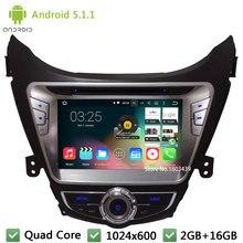 Quad Core Android 5.1.1 8″ 1024*600 3G WIFI DAB+ Car DVD Multimedia Player Radio Stereo For Hyundai Elantra/Avante/I35 2011-2013