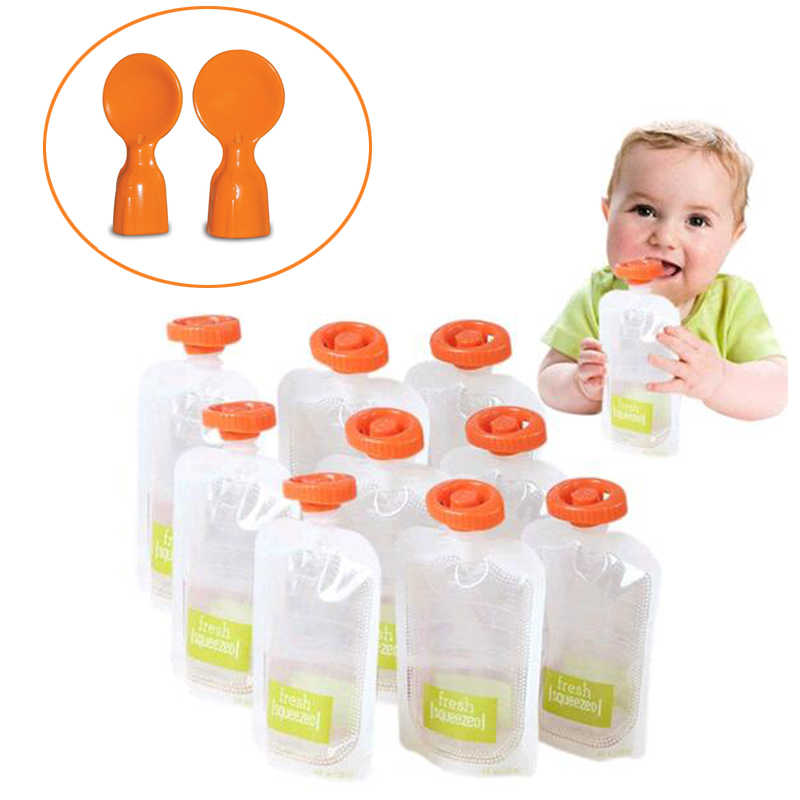 BPA Free Baby Food Storage Bags Make Organic Food Fresh For Newborn Toddler Squeeze Fruit Juice Pouch 10pcs-50pcs