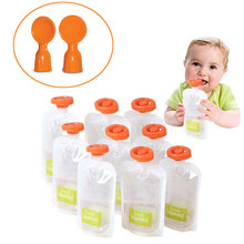 Reusable Baby Food Storage Bags Make Organic Food Fresh For Newborn Toddler Reusable Squeeze Fruit Juice Pouch 10pcs-50pcs(China)