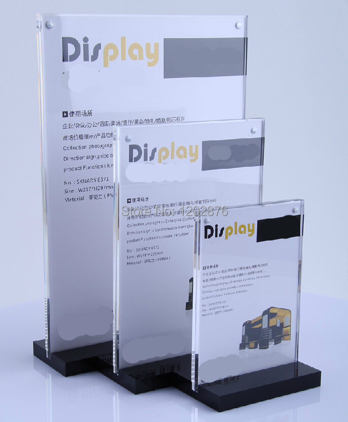 table display stands. aliexpress a5 acrylic magnetic table display stand holder desktop label sign al8102 for supermarket stands s