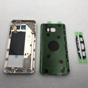 Image 5 - Pour Samsung Galaxy Note 5 N920 N920F SM N920F cadre moyen note5 N9200 couverture arrière boîtier complet écran avant lentille en verre + outil
