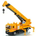 Hot alloy car models engineering, 1:40 high simulation model cranes, sound and light pull back toy car, free shipping