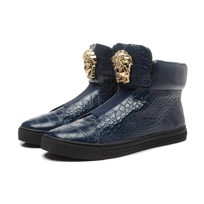 ebc0cd63d522 Mens Designer Shoes Snakeskin Men Sneaker Wedges Quality Men Platform Sneakers  Mens Sneakers Shoes-in Men s Casual Shoes from Shoes on Aliexpress.com ...