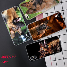 Silicone Phone Case Shepherds Dog German Printing for iPhone XS XR Max X 8 7 6 6S Plus 5 5S SE Matte Cover
