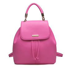 2016 Korean fashion Casual lady backpack college style high quality PU leather multi-purpose shoulder bags student bag