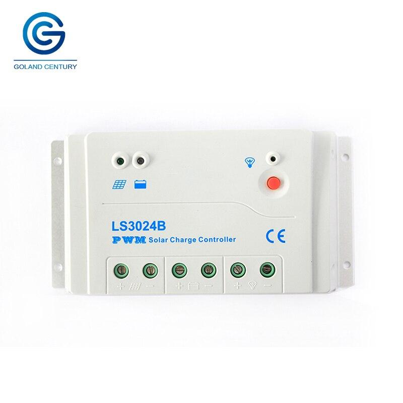LS3024B 30A AMP 12V 24V Landstar Manual PWM Solar panel battery Small Charge Regulator Controller For Solar Panel System Home