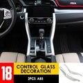 Car-styling Cover Modification Accessori 2 PCS ABS Automobile Interior Control Glass Decoration Stickers For 10th Honda Civic