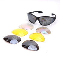 Hunting Shooting CQB CQC Outdoor C4 IPSC UV400 Eye Protection Goggle 4 Lens Outdoor Sports Glasses