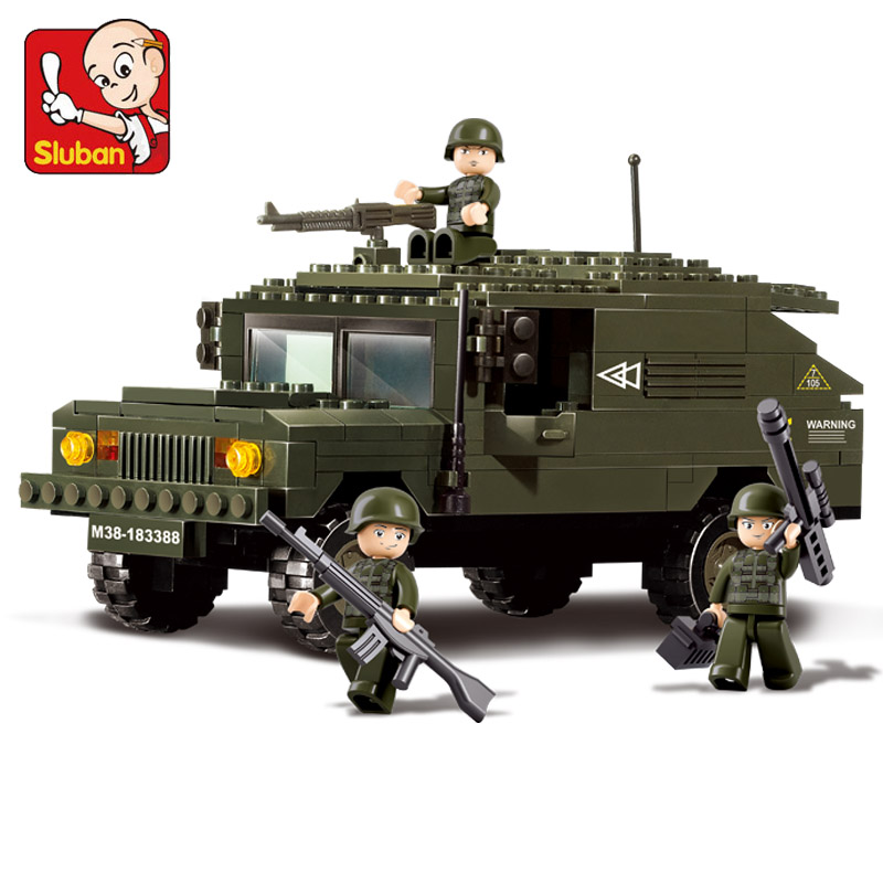 Sluban Model building compatible with legoe city army 3D blocks Educational model building Bricks toys hobbies for children