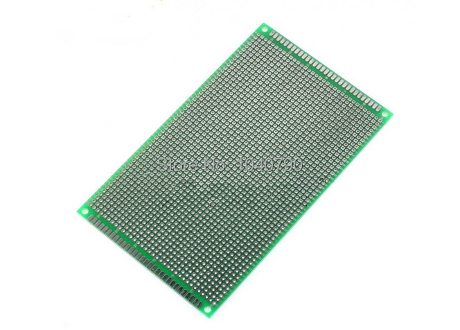Free Shipping 9*15cm  2PCS  Double Sided  PCB Printed Circuit Board Prototyping FR-4 Glass Fiber Universal Double Circuit Board