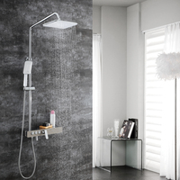 HIDEEP Bathroom Shower Set Bathtub Faucets Shower Mixer Tap Bath Shower Taps Waterfall Shower Head Wall Mixer
